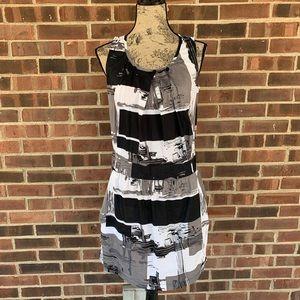 ⬇️$25 Naf Naf painting print sleeveless dress